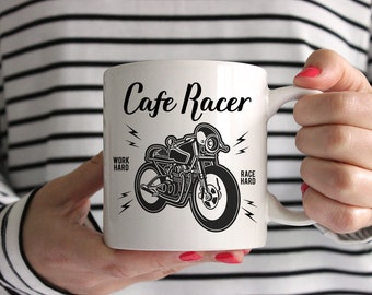 Cafe Racer Motorcycle Ceramic Mug