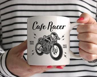 Cafe Racer Motorcycle Ceramic Mug