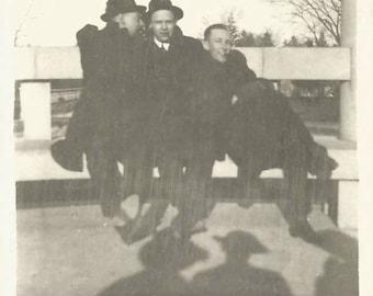 "Vintage Photo ""Dark Shadows"" Men's Hats Photographer Shadow Found Vernacular Photo"
