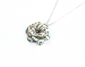 Book Flower Necklace, Graduation Spring Bridesmaid Gift - Pride and Prejudice, Harry Potter, etc - contact for 20% off 5+