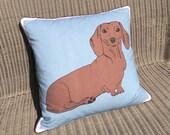 Dachshund dog cushion. FREE UK Postage &packaging. Sausage dog pillow.Doxie cushion.