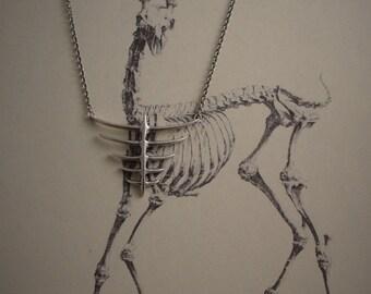 Ribcage Necklace, Gothic Jewelry, Rib Jewelry, Gothic Necklace, Bone Necklace, Gothic Pendant, Dark Jewelry, Goth Necklace, Gothic, Goth