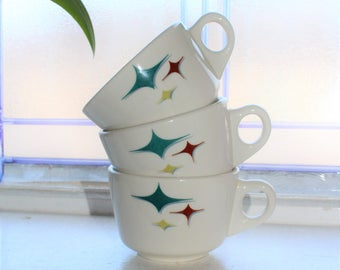 3 Vintage Restaurant Ware Coffee Cups Syracuse China Trends Jubilee