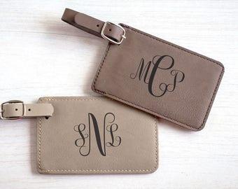 Feminine Monogrammed Luggage Tag: Personalized Luggage Tag for Her, Custom Monogrammed Luggage Tag, Bridesmaid Luggage Tag, SHIPS FAST