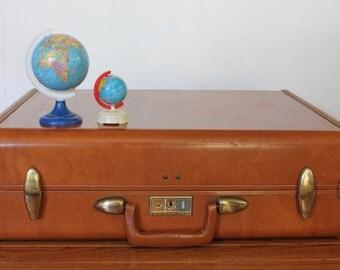 "Vintage Pullman Case Brown Samsonite Suitcase //  21"""