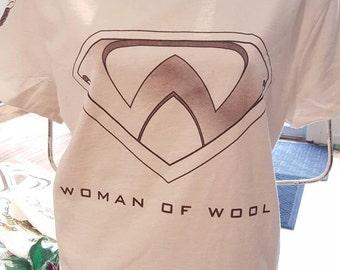 Woman of Wool T-Shirt Felting, Spinning Sheep lover