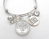 MOTHER of Groom, Gift from Daughter in Law to Mother of the Groom, Wedding Keepsake, Charm BRACELET I will love your son, Mother in Law