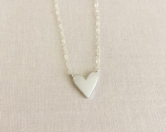 Heart Necklace | Silver Necklace | Layering Necklace | Children's Heart Necklace | Heart Charm Necklace | Gift For Her