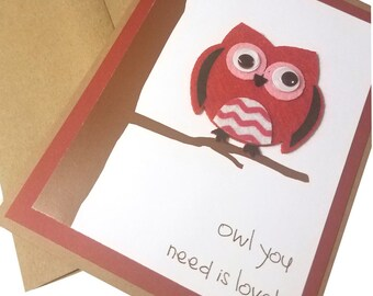 Handmade Valentine's day card, Funny Valentine, Valentines for him, Valentine for boyfriend, Cute Valentines card, for kids
