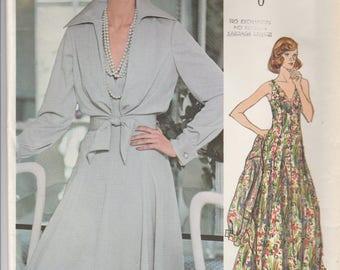 Princess Seam Sundress & Over Shirt Pattern Vogue Americana 1117 Size 12 Uncut