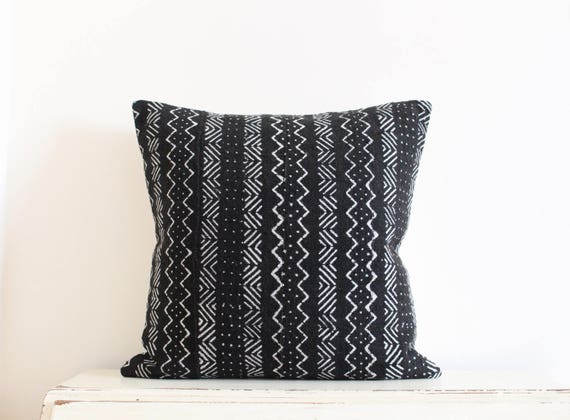 "African Mudcloth Pillow Cushion Cover 20"" x 20"""