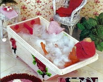 Bath Time / Barbie Furniture Plastic Canvas Patterns Annies Attic FP06-04
