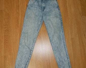 VTG 1990s Sasson Acid Washed High Waisted Womens Jeans Size 8 Tapered Leg