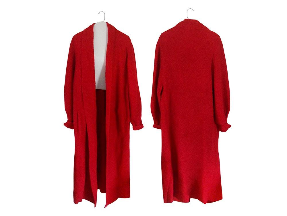Long Cardigan Sweater Plus Size Sweater Long Sweater Coat Red