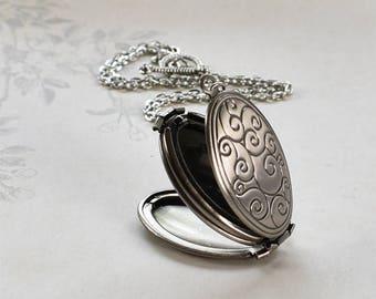 Folding Swirl Locket, 4 photo family locket, multi photo locket, Mother's Day gift for mom gift for grandmother birthday gift family locket