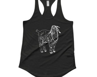 Goat Tank Top, Boer Goat Tank Top, Animal Shirt, Animal Tank Top, Wildlife Tank Top