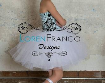 Tweed Tulle Dress - Couture Girls Dress - Tutu Dress