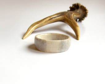 Deer Antler Ring, Rustic Wedding Band, Mens Wedding Band, Boho, Thumb Ring, Antler Jewelry, Unique Wedding Bands, Handmade by MariyaArts