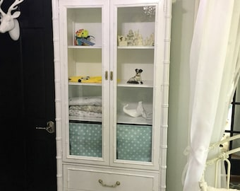 Thomasville Faux Bamboo China Cabinet/Armoire-Local pick up or your shipper