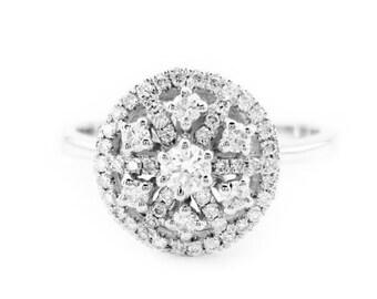 Diamond Engagement Ring, Art Nouveau Diamond Ring, Vintage Engagement Ring, Vintage, Antique Ring, Diamond Ring, Fast Free Shipping