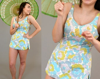 1950's Cole of California Cotton floral print Swimsuit