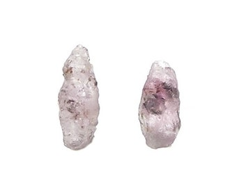 Sapphires 2 Tiny Pink Crystals Natural Genuine Gemstone, Corundum Gem Garden, Natural Raw Petite Precious Jewels, Chinese Medicine crystals