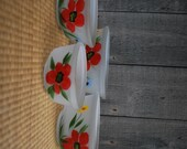 vintage bowls - set of 4 - frosted glass - 1950s