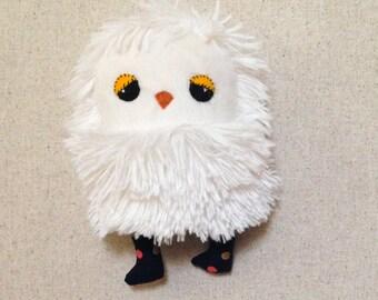 Sonia small stuffed baby owl fabric doll stuffed animal