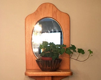 Wall Mirror With Shelf mirror with shelf | etsy