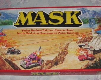 Vintage 1985 Parker Brothers M.A.S.K. Raid and Rescue Board Game Complete