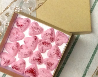 VALENTINES Sugar Cube Hearts for Tea and Coffee at Weddings.Baby Showers and Party's