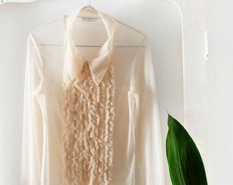 Mugler see-through blouse // 90s // M size