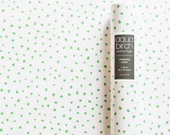 Wrapping Paper, Wrapping Paper Sheets, Lime Green Wrapping Paper, Modern Gift Wrap, Lime Birthday Party, Birthday Party Gift Wrap Paper