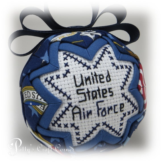 Military Quilted Ornament  - Air Force - Military Ornament
