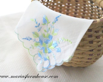 Vintage Embroidered Design Ladies' Handkerchief, Bride to Be, Wedding Gift