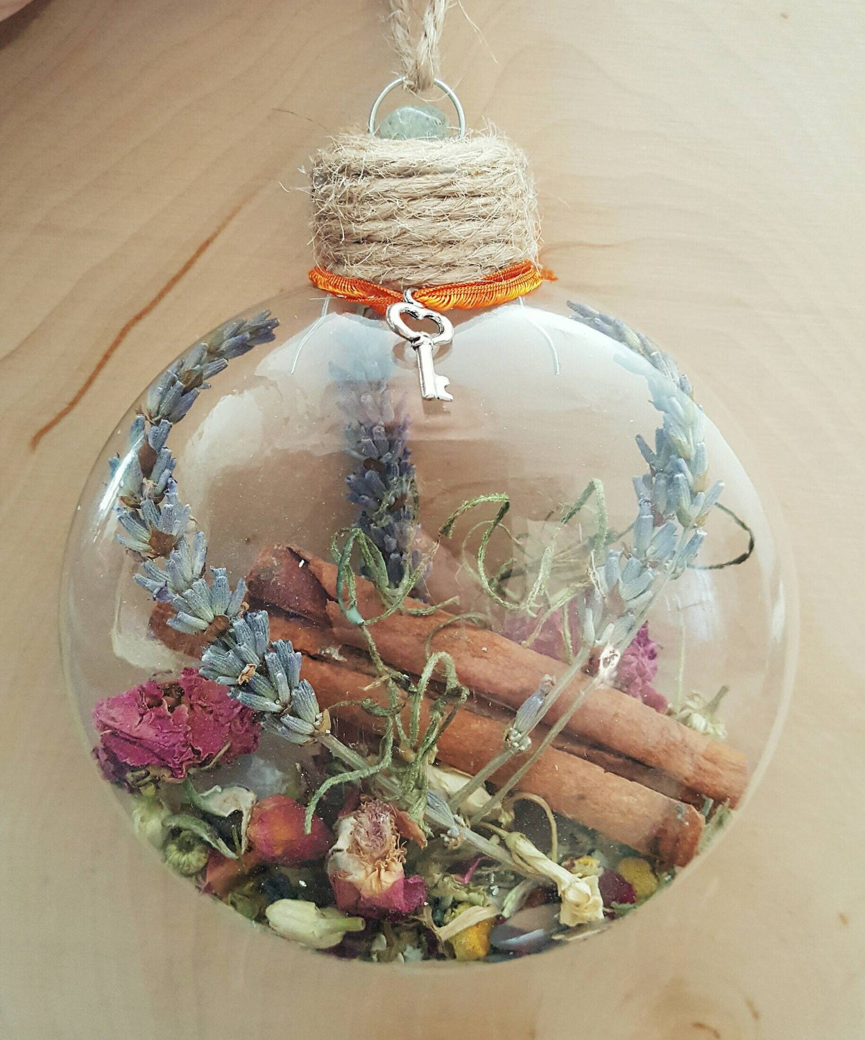 New home blessing ornament witch ball herbal blessing for Pagan decorations for the home