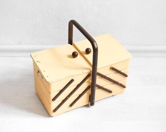 Rustic knitting basket, sewing box, knitting basket, jewelry box, jewelry organizer
