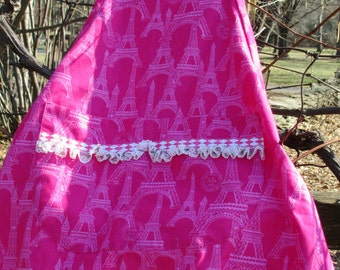 Hot Pink Girly Girl BBQ style Adult/Teen Apron by Cover Me Aprons