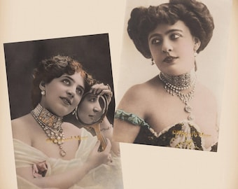 Edwardian Actress - 2 New 4x6 Vintage Image Photo Prints - SD211 SD239