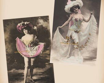 Edwardian Actress - 2 New 4x6 Vintage Postcard Image Photo Prints - SD181 SD228
