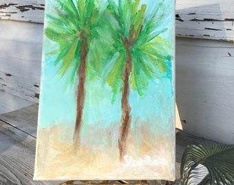 Palm Tree Painting/CoastalTheme Original Painting/ Palm Tree Art/Beach House Wall Art