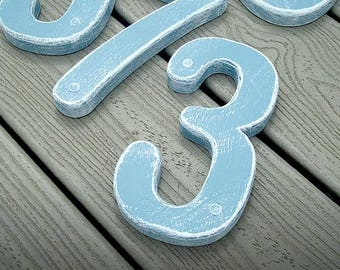 GARDENmarx 7 inch Beach styled wood address numbers