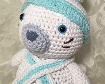Sammy the Little Seal - crochet stuffed toy