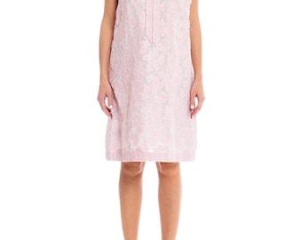 1960s Floral Print Day Dress Size: M/L