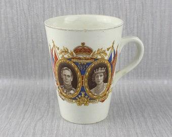 1937 King George VI Coronation Mug Commemorative Ceramic Cup