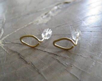 "Earrings... NEW ""Tiny Leaves"" hand wrapped and hammered brass or sterling silver filled earrings."