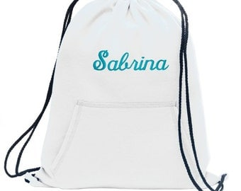 Drawstring Bag, Cinch Bags, Personalized Cinch Bags, Sweatshirt Drawstring Bag, Drawstring Backpack, Gym Bags, Personalized Gifts, Girls Bag