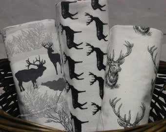Woodland Theme Nursery, Deer Swaddle Blanket, woodlands theme,  buck swaddle blanket set, deer nursery decor