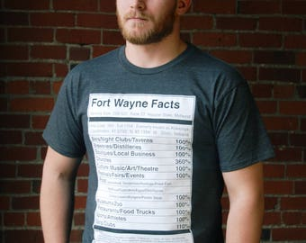 Heather Grey Fort Wayne Facts/Nutritional Facts Long-Line Tee - Valontine Exclusive