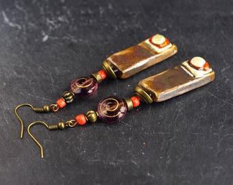 psychedelic,mandala earrings,hippie jewelry,vortex,swirl earrings,mandala jewelry,ceramic earrings,hippie costume,zen jewelry,70s jewelry